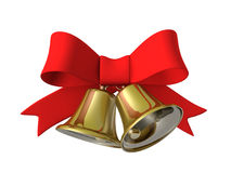 Nastro della campana di Natale, illustrazione 3D Fotografie Stock Libere da Diritti