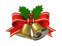 Nastro della campana di Natale, illustrazione 3D Fotografia Stock Libera da Diritti