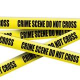 Nastro della scena del crimine Fotografia Stock