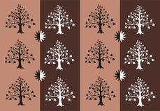 Nastro della siluetta dell'albero Immagini Stock Libere da Diritti