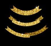 Nastro della stella brillante dell'oro Immagine Stock Libera da Diritti