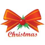 Nastro di Buon Natale Fotografie Stock Libere da Diritti