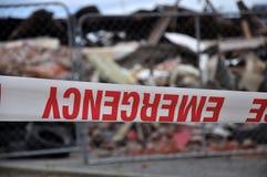 Nastro di emergenza Fotografie Stock