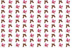 Nastro di Georgievsky e fiori artificiali rossi Fotografie Stock