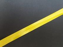 Nastro di giallo Immagine Stock Libera da Diritti