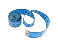 Nastro di misurazione blu Fotografia Stock