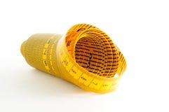 Nastro di misurazione giallo Fotografia Stock