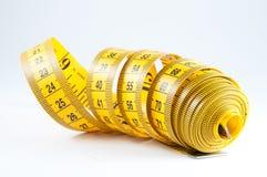 Nastro di misurazione giallo Immagine Stock Libera da Diritti