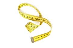 Nastro di misurazione giallo Fotografia Stock Libera da Diritti