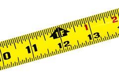 Nastro di misurazione giallo immagine stock