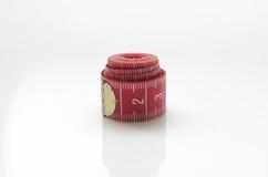 Nastro di misurazione rosso Fotografie Stock