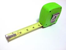 Nastro di misurazione verde Immagini Stock