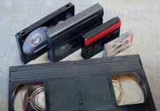 Nastro di registrazione differente della cassetta Fotografie Stock Libere da Diritti