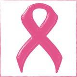 Nastro di rosa di consapevolezza del cancro al seno immagine stock