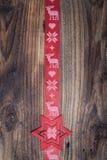 Nastro di rosso di Natale Fotografia Stock
