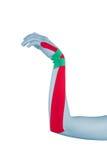 Nastro di terapia fisica isolato su bianco. immagini stock libere da diritti