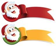 Nastro di Web di natale del Babbo Natale Fotografia Stock Libera da Diritti