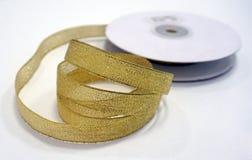 Nastro dorato Fotografia Stock Libera da Diritti