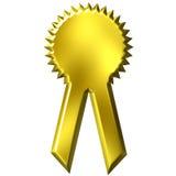 Nastro dorato del premio Immagini Stock