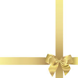 Nastro dorato (illustrazione) Immagine Stock
