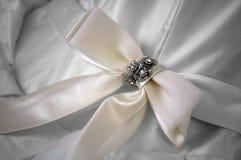 Nastro e gioielli bianchi Fotografia Stock