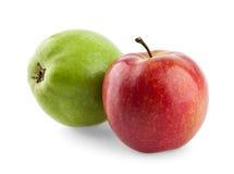 Nastro e mela di misurazione fotografie stock