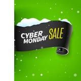 Nastro e neve di vendita di Black Friday Illustrazione Vettoriale
