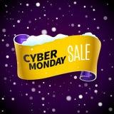Nastro e neve di vendita di Black Friday Illustrazione di Stock