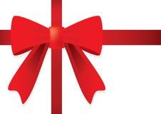 Nastro ed arco rosso per il regalo. Fotografia Stock Libera da Diritti