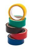 Nastro elettrico colorato fotografie stock libere da diritti