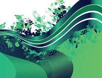 Nastro floreale verde Fotografia Stock