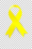 Nastro giallo con ombra molle al fondo trasparente di effetto royalty illustrazione gratis