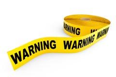 Nastro giallo d'avvertimento Fotografia Stock Libera da Diritti