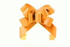 Nastro giallo del regalo Fotografia Stock