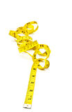 Nastro giallo di misura immagini stock