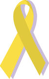 Nastro giallo; i militari supportano Fotografia Stock Libera da Diritti