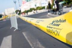 Nastro maratona di Bucarest Fotografia Stock Libera da Diritti