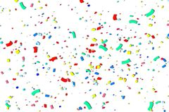 Nastro multicolore su fondo bianco immagine stock