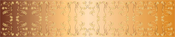 Nastro openwork dell'oro illustrazione di progettazione di vettore Fotografia Stock Libera da Diritti