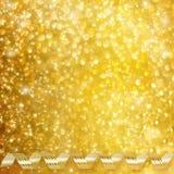 Nastro orizzontale di carta dell'oro su fondo astratto Immagini Stock Libere da Diritti