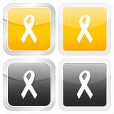 Nastro quadrato dell'icona Immagini Stock Libere da Diritti