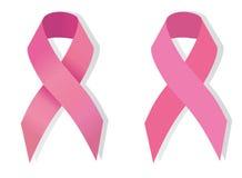 Nastro rosa del cancro al seno Fotografia Stock