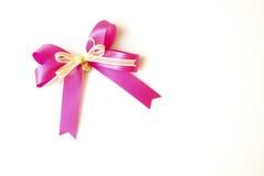 Nastro rosa isolato su fondo Fotografia Stock Libera da Diritti