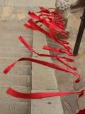 Nastro rosso Fotografia Stock Libera da Diritti