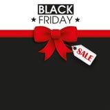 Nastro rosso Black Friday Shopmark Fotografia Stock Libera da Diritti