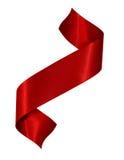 Nastro rosso del raso Fotografia Stock