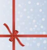 Nastro rosso del regalo Immagine Stock