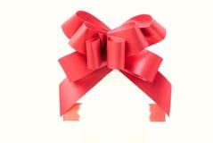 Nastro rosso del regalo Fotografie Stock