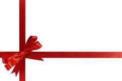 Nastro rosso del regalo di natale dell'arco fotografia stock libera da diritti