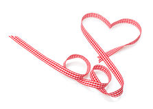 Nastro rosso a forma di del cuore di San Valentino Immagine Stock